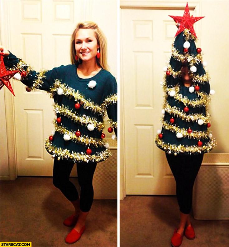 Christmas Tree Costume.Woman Creative Christmas Tree Costume Cosplay Starecat Com