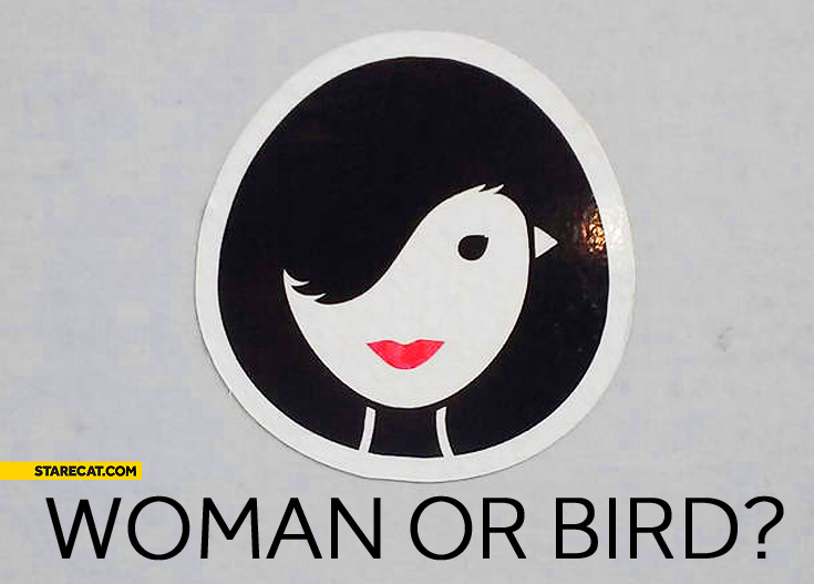 Woman or bird