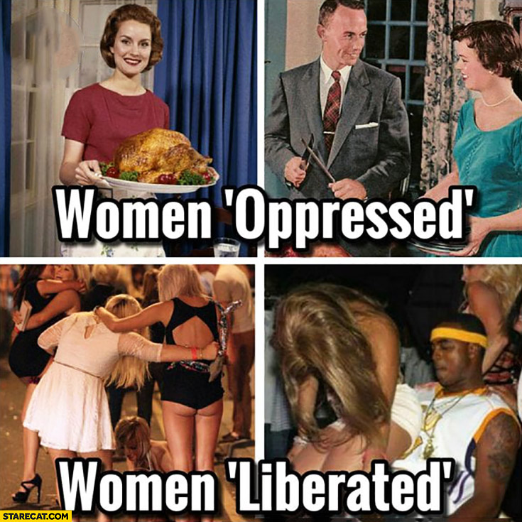 Women opressed vs women liberated comparison