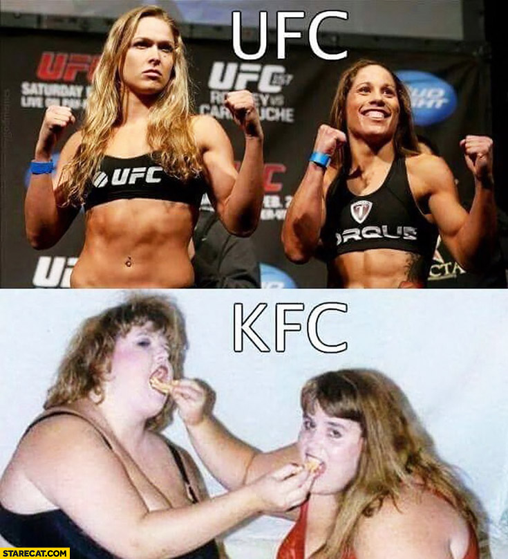 Women UFC KFC comparison