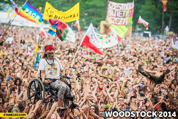 Woodstock 2014 Poland wheelchair guy