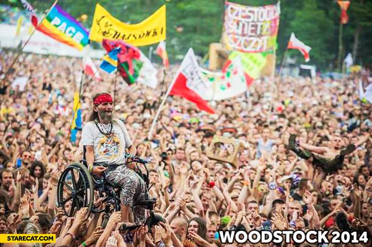 Woodstock 2014 Poland wheelchair guy