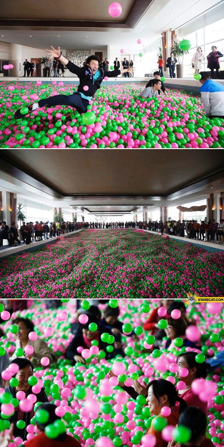 World's largest ball pit China