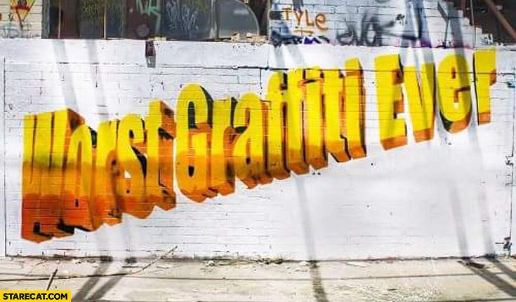 Worst graffiti ever WordArt Microsoft Word