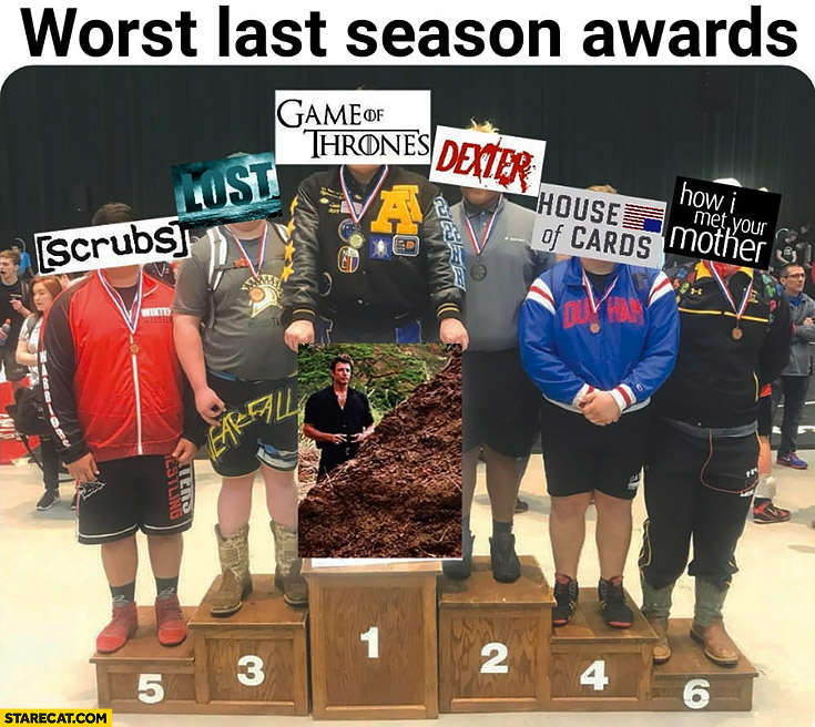 Worst last season awards Game of Thrones won