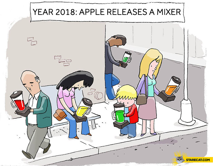 Year 2018 Apple releases a mixer
