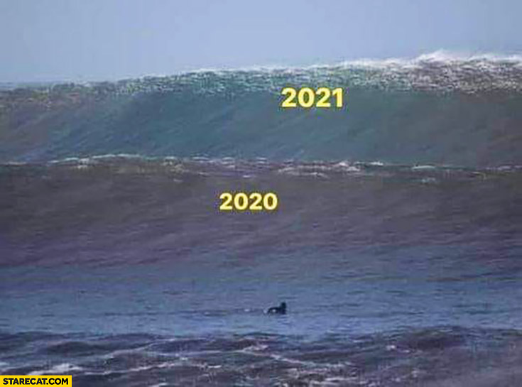 Year 2020 big wave, 2021 even bigger wave