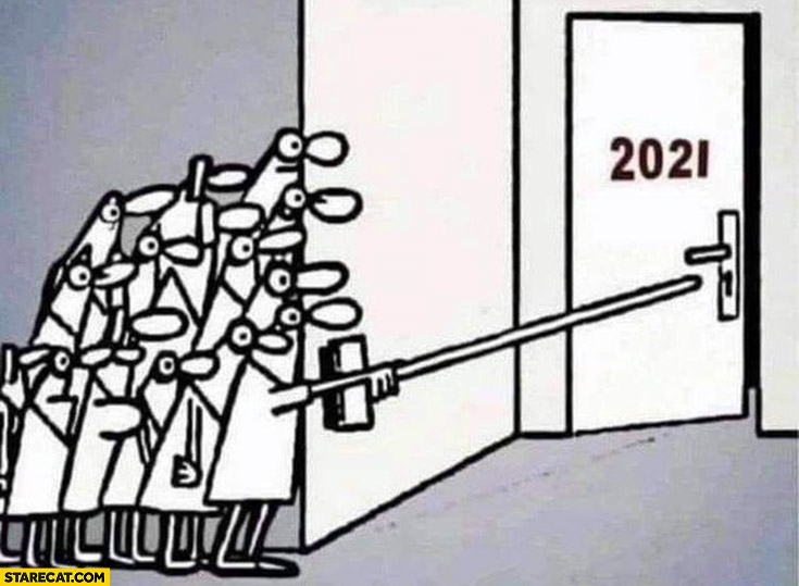 Year 2021 people afraid to open door