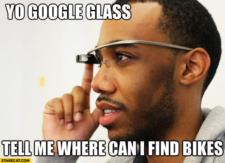 Yo Google Glass. Tell me where can I find bikes black man