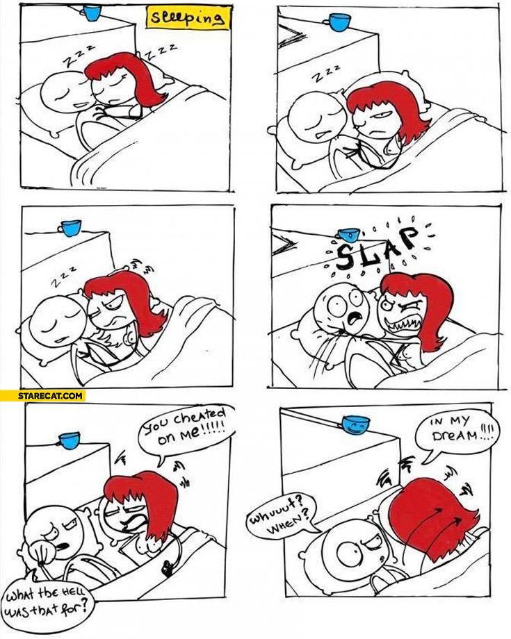 You cheated on me in my dream comic