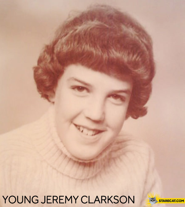 Young Jeremy Clarkson looking like a girl