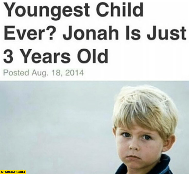 Youngest child ever? Jonah is just 3 years old