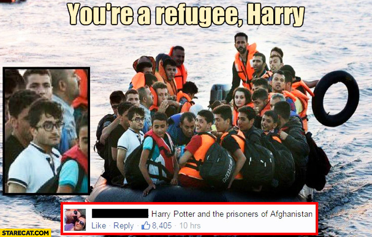 You're a refugee Harry Potter and the prisoners of afghanistan