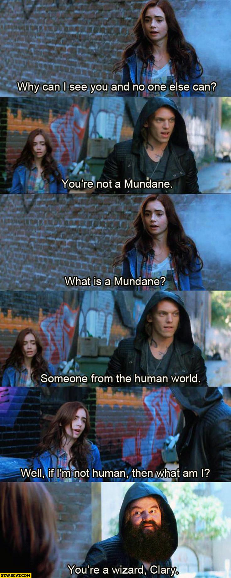 You're not a Mundane you're a wizard Clary
