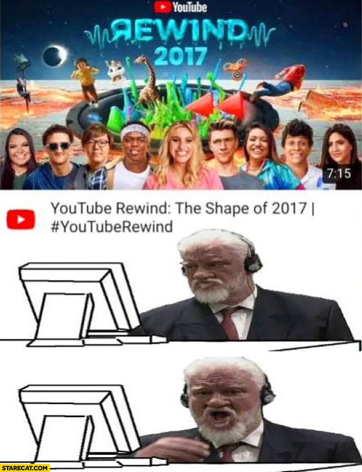 YouTube rewind 2017 Slobodan Praljak drinks poison commits suicide after watching it