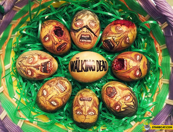 Zombie The Walking Dead easter eggs