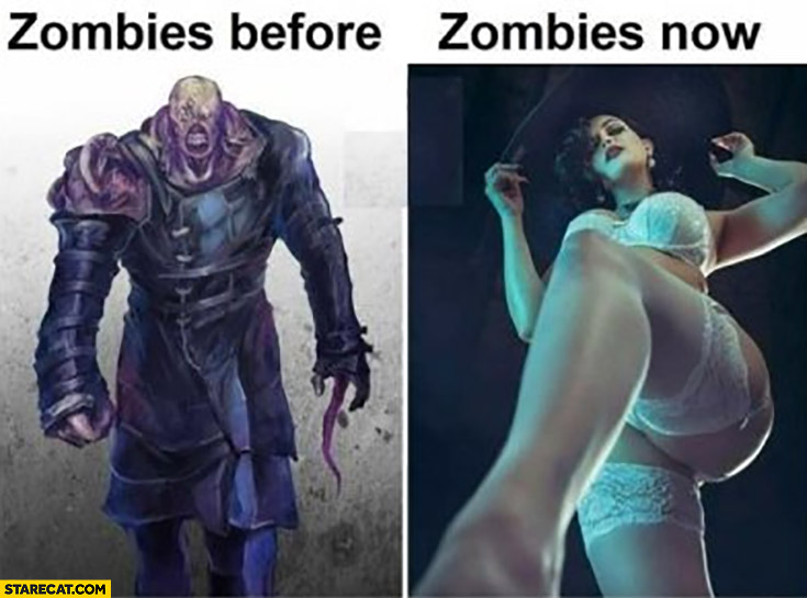 Zombies before monster vs zombies now woman